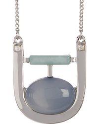 Danielle Nicole Balance Pendant Necklace - Metallic