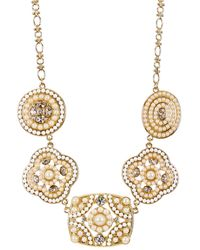 Carolee - 12k Gold Casablanca Cachet Faux Pearl Bib Necklace - Lyst