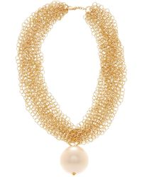 Carolee - Multi-chain & Oversized Simulated Pearl Necklace - Lyst