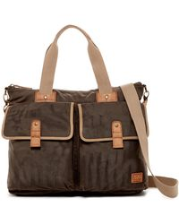 Marc New York Fairfield Leather Trimmed Double Handle Carry All - Brown