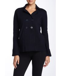 Autumn Cashmere Milano Double-breasted Peacoat - Blue