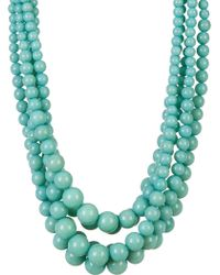 Cara - Multi-strand Turquoise Beaded Necklace - Lyst