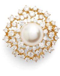 Nadri - Faux Pearl Pin - Lyst