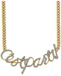Nicole Miller - Cz French Expressions Collar Necklace - Lyst