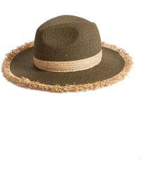 Caslon - Fringe Panama Hat - Lyst