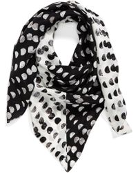 Halogen - 'ripple Dots' Square Silk Scarf - Lyst