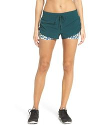 Zella - 'twice As Nice' Layered Shorts - Lyst