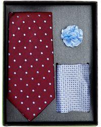 Bristol & Bull - Red & Blue Tie Silk Set - Lyst
