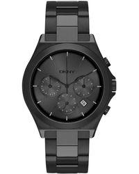 DKNY - Women's Black Stainless Steel Watch - Lyst