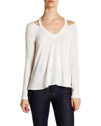 NYTT - V-neck Cold Shoulder Sweater - Lyst