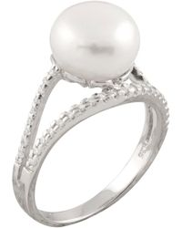 Splendid - Cz & White Freshwater 8-8.5mm Pearl Fancy Ring - Lyst