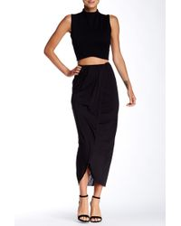Twenty Faux Wrap Skirt - Black