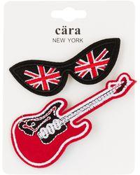 Cara - British Lenses & Guitar Pin - Set Of 2 - Lyst