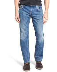 Rock Revival - 'willis J400' Straight Leg Jeans (medium Blue) - Lyst