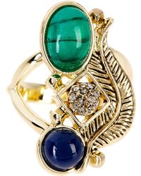 House of Harlow 1960 Arremon Feather Ring - Size 8 - Blue