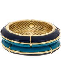 House of Harlow 1960 - Turquoise & Black Enamel Ring Set - Size 7 - Lyst