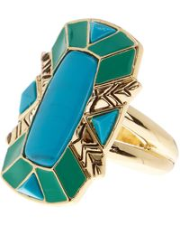 House of Harlow 1960 Nile Delta Cocktail Ring - Size 7 - Metallic