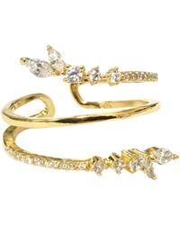 Charlene K 14k Gold Plated Sterling Silver Cz Wrap Ring - Metallic
