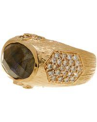 Melinda Maria - Larissa Labradorite Ring - Size 7 - Lyst