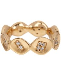 Melinda Maria - 14k Gold Plated Jill White Cz Pod Infinity Ring - Size 7 - Lyst