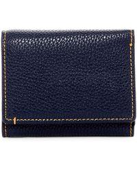 Robert Graham Capria Leather Trim Tri-fold Wallet - Blue