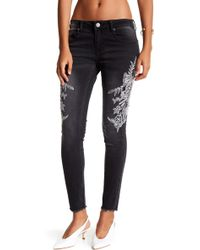 Romeo and Juliet Couture - Embroidered Skinny Jean - Lyst