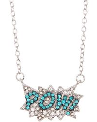 Ariella Collection - Pow Necklace - Lyst