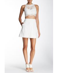 Valette   Box Pleat Mini Skirt   Lyst