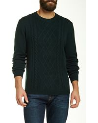 Autumn Cashmere - Cable Knit Crew Neck Sweater - Lyst