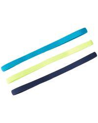 Asics Hera Thin Headbands - Pack Of 3 - Blue