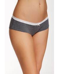 Kensie - Lace Trim Hipster - Lyst
