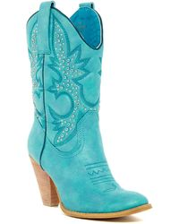 Very Volatile Rosy Western Boot - Blue