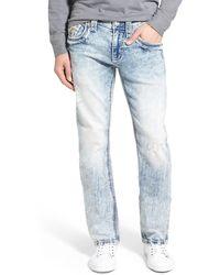 Rock Revival - 'olen A202' Alternative Straight Leg Jeans (acid Blue) - Lyst
