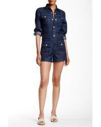 AG Jeans Alexa Chung Loretta Long Sleeve Romper - Blue
