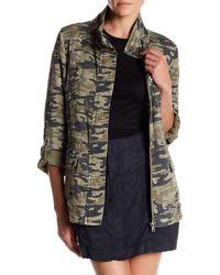 Marrakech - Foster Camo Print Roll Sleeve Jacket - Lyst