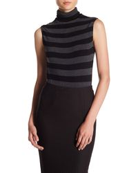 Twenty - Striped High Neck Bodysuit - Lyst
