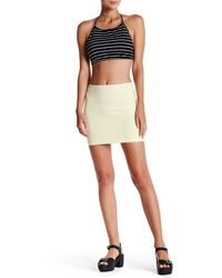American Apparel - Ponte Mini Skirt - Lyst