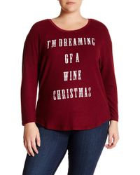 Signorelli - Wine Christmas Fleece Sweater (plus Size) - Lyst