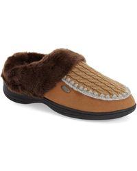 Acorn - Acadia Scuff Faux-Fur Slippers - Lyst