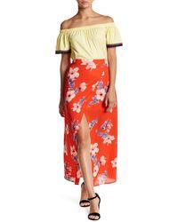 Peach Love California - Maxi Wrap Skirt - Lyst
