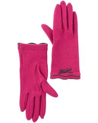 Vincent Pradier Bow Ruffle Gloves - Pink