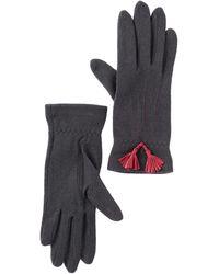 Vincent Pradier Tassel Wool Gloves - Gray