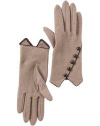 Vincent Pradier Multi Button Wool Gloves - Brown