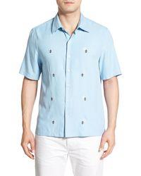 Nat Nast - 'flores' Regular Fit Short Sleeve Silk Sport Shirt - Lyst