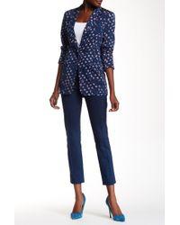 Diane von Furstenberg Farrah Skinny Ponte Ankle Pants - Blue
