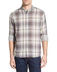 Singer + Sargent - Regular Fit Double Faced Plaid Sport Shirt - Lyst