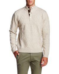 Singer + Sargent - Long Sleeve Mock Neck Wool Pullover Jumper - Lyst