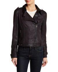 Blanc and Noir - Asymmetrical Zip Moto Jacket - Lyst