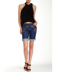 Cynthia Rowley - Sequin Embellished Denim Short - Lyst