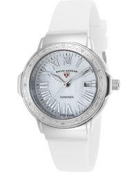 Swiss Legend | Women's South Beach Mother Of Pearl Diamond Watch - 0.096 Ctw | Lyst